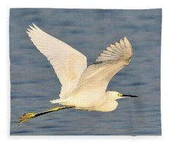 Snowy Egret Wings Fleece Blanket