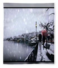 Snowy Walk Fleece Blanket