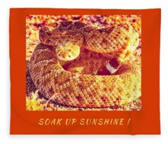 Soak Up Sunshine Fleece Blanket