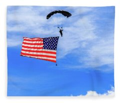 Socom Flag Jump Fleece Blanket