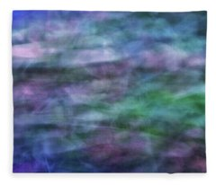 Soft Flowing Abstract Background With Purples, Blues And Green Lines And Shapes Fleece Blanket
