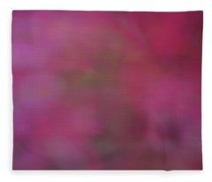 Soft Flowing Pastel Abstract Line Background With Pink, Red And Green Shapes Fleece Blanket