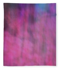 Soft Flowing Pastel Abstract Line Background With Pinks, Blues And Purple Fleece Blanket
