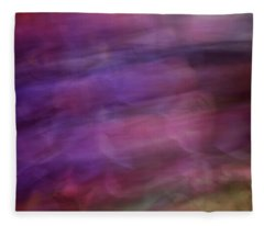Soft Flowing Pastel Abstract Line Background With Purples, Blues And Green Lines And Shapes Fleece Blanket