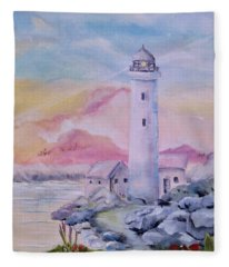 Soft Lighthouse Fleece Blanket