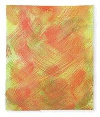 Soft Orange Colors 2 Fleece Blanket