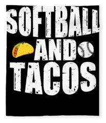 Softball And Tacos Funny Novelty Fleece Blanket