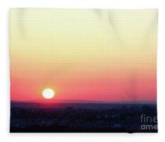 Solar Tangent Fleece Blanket