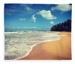 Solitude Beach Fleece Blanket