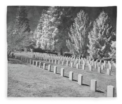 Somber Scene Fleece Blanket
