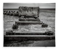 Fleece Blanket featuring the photograph Something In The Water by Steve Stanger