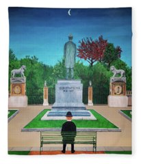 Somewhere In Belgium Fleece Blanket