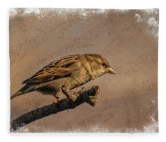 Song Bird Fleece Blanket