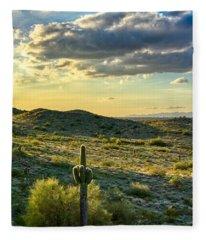 Sonoran Desert Portrait Fleece Blanket