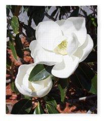 Sosouthern Magnolia Blossoms Fleece Blanket
