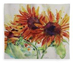 Soulflowers Fleece Blanket