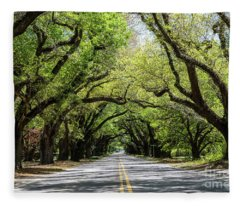 South Boundary Ave Aiken Sc Fleece Blanket