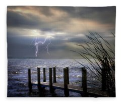 South Manistique Lake Michigan Fleece Blanket