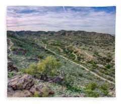 South Mountain Landscape Fleece Blanket
