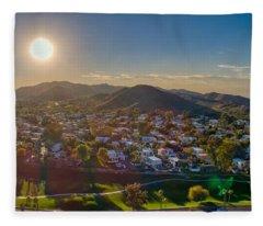 South Mountain Sunset Fleece Blanket