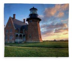 Southeast Light Sunrise Fleece Blanket