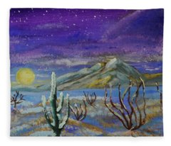 Southern Arizona Winter Magic  Fleece Blanket