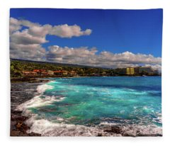 Southern View Of The Shore Fleece Blanket
