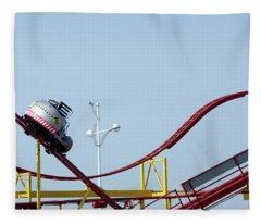Southport.  The Fairground. Crash Test Ride. Fleece Blanket