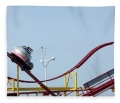 Southport.  The Fairground. Crash Test Ride. Fleece Blanket