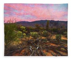 Southwest Day's End Fleece Blanket