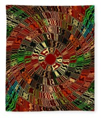 Southwestern Sun Swirl Fleece Blanket