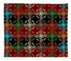 Southwestern Sun Tile Fleece Blanket