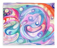 Space Abstract Fleece Blanket