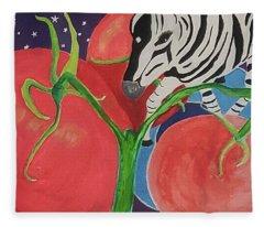 Space Zebra Fleece Blanket