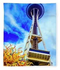 Spaceneedle High In The Clouds Fleece Blanket