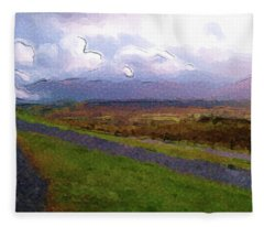 Spean Bridge Painting Fleece Blanket