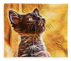 Special Long Neck Kitty Fleece Blanket