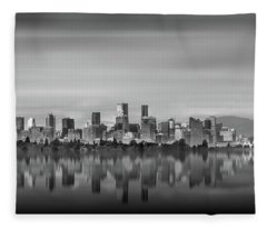 Special View Of Downtown Vancouver Fleece Blanket
