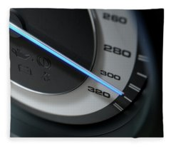 Speedometer Fast Fleece Blanket