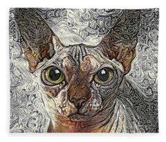 Sphinx Cat Fleece Blanket