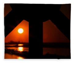 Spiderweb View Fleece Blanket