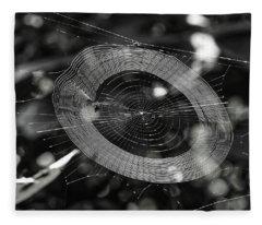 Spinning My Web Fleece Blanket