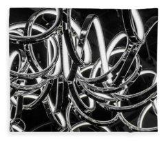 Spirals Of Light Fleece Blanket