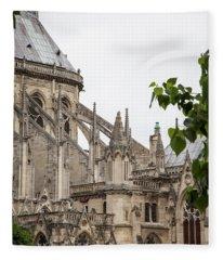 Spires Of Notre Dame Fleece Blanket