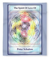 Spirit Of Love Of Peter Schalow Fleece Blanket