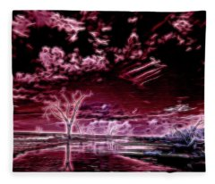 Spirits In The Night Fleece Blanket