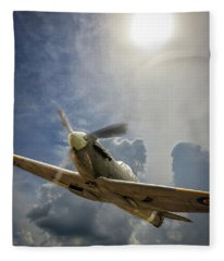 Spitfire Under The Sun Fleece Blanket