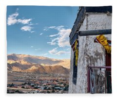 Fleece Blanket featuring the photograph Spituk Gompa by Whitney Goodey