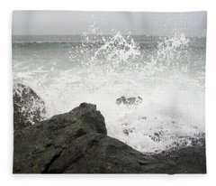 Splash And Gray Fleece Blanket