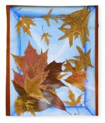 Splattered Leaves Fleece Blanket